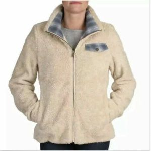 Pendleton Women's Fuzzy Full Zip Dark Blue Jacket